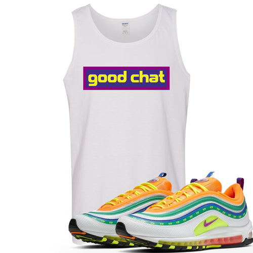 Air Max 97 Summer of Love Sneaker Match Good Chat White Mens Tank Top