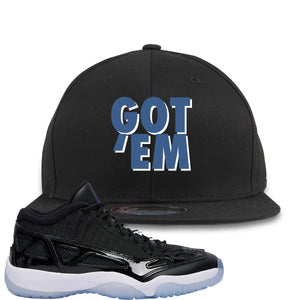 Air Jordan 11 Low IE Space Jam Sneaker Hook Up Got Em Black Snapback