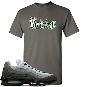 Nike Air Max 95 Fresh Mint Sneaker Hook Up Vintage Star Logo Charcoal T-Shirt