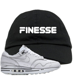 Nike Air Max 1 Sketch to Shelf White Sneaker Hook Up Finesse Black Dad Hat