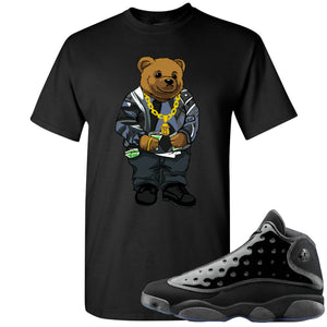 Air Jordan 13 Cap and Gown Sneaker Hook Up Sweater Bear Black T-Shirt