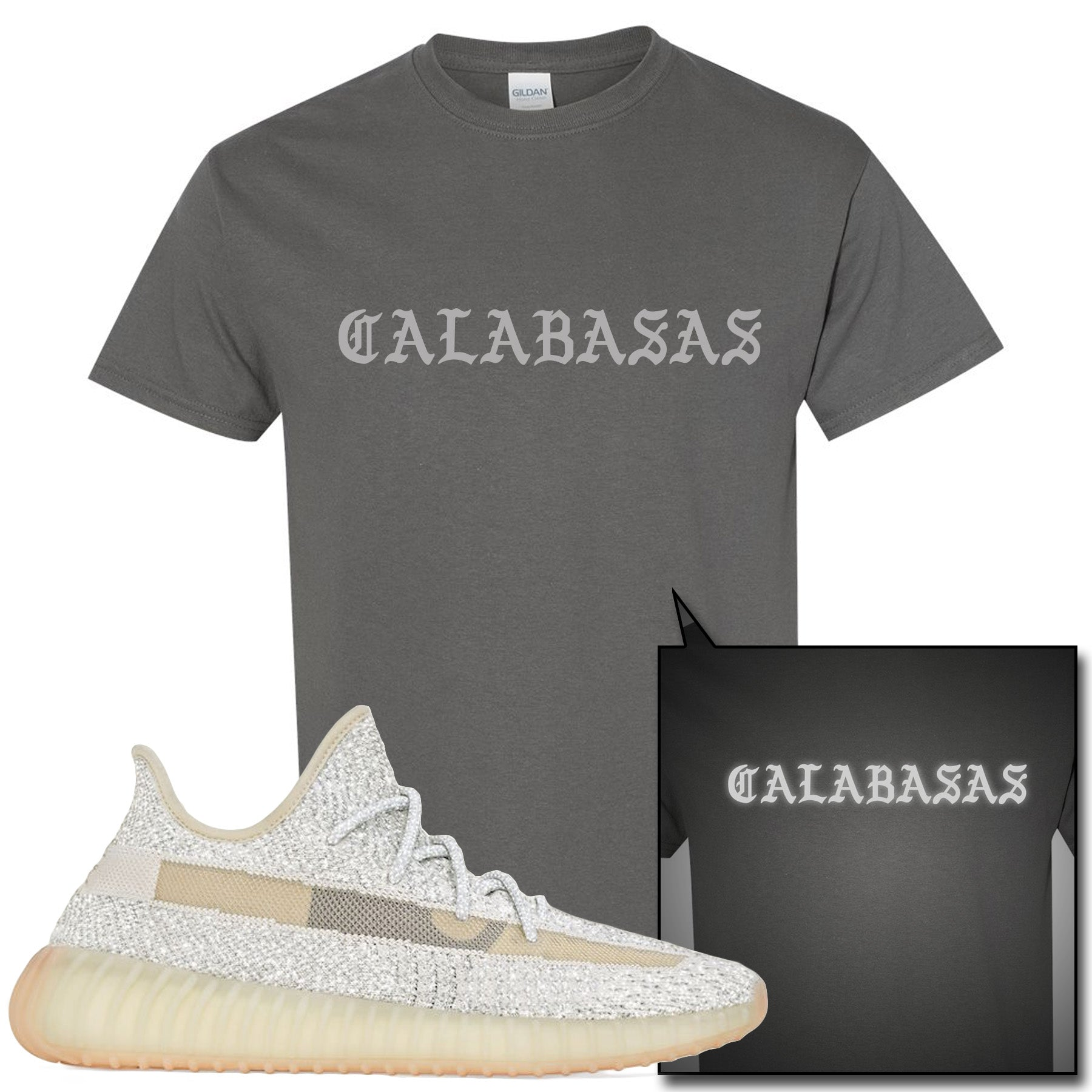 Gray T Calabasas V2 Yeezy Reflective Sneaker Boost Lundmark Shirt Match Adidas Charcoal 350 yvmO0N8nw