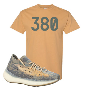 Yeezy Boost 380 Mist Sneaker Old Gold T Shirt | Tees to match Adidas Yeezy Boost 380 Mist Shoes | 380
