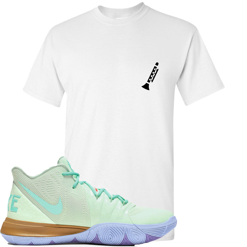 Nike Kyrie 5 Squidward Sneaker Hook Up Clarinet White T-Shirt
