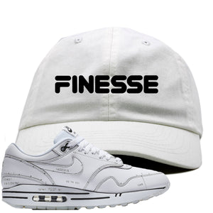 Nike Air Max 1 Sketch to Shelf White Sneaker Hook Up Finesse White Dad Hat