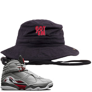 Air Jordan 8 Reflections of a Champion Sneaker Hook Up Got Em Black Bucket Hat