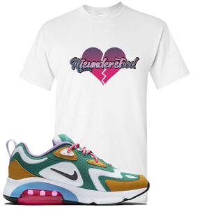 Nike WMNS Air Max 200 Mystic Green Sneaker Hook Up Misunderstood White T-Shirt