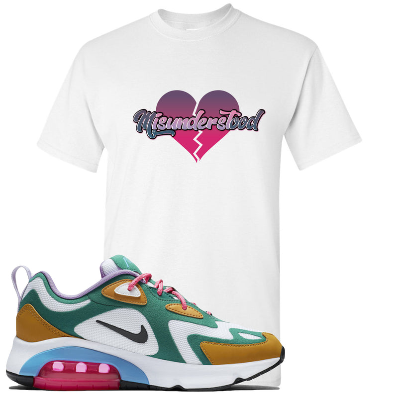 WMNS Air Max 200 Mystic Green Sneaker Hook Up Misunderstood White T-Shirt