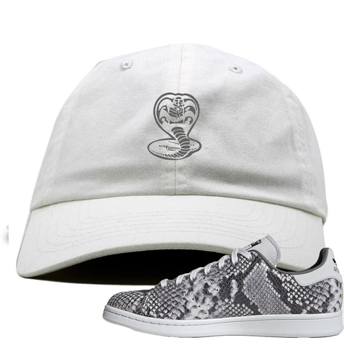 Adidas Stan Smith Grey Snakeskin Sneaker Match Cobra Snake White Dad Hat