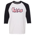 Nike WMNS Air Foamposite One USA Sneaker Hook Up Vintage Star White and Black Raglan T-Shirt