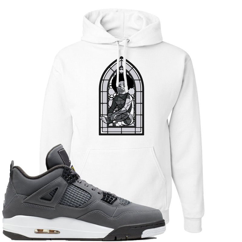 Air Jordan 4 Cool Grey 2019 Sneaker Match Stained Glass Biggie Baby White Hoodie