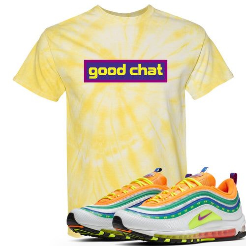 Air Max 97 Summer of Love Sneaker Match Good Chat Yellow Tie Dye T-Shirt