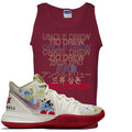 Bandulu x Nike Kyrie 5 Sneaker Match Uncle Drew Multi Language Cardinal Red Mens Tank Top