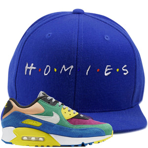 Nike Air Max 90 Viotech 2.0 Sneaker Hook Up Homies Blue Snapback