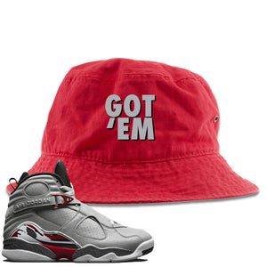 Air Jordan 8 Reflections of a Champion Sneaker Hook Up Got Em Red Bucket Hat
