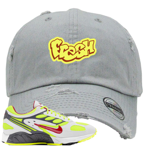 Nike Air Ghost Racer Neon Yellow Sneaker Match Fresh Light Gray Distressed Dad Hat