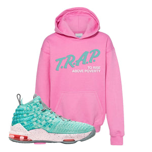 Lebron 17 South Beach Kids Pullover Hoodie | Trap to Rise Above Poverty, Azalea