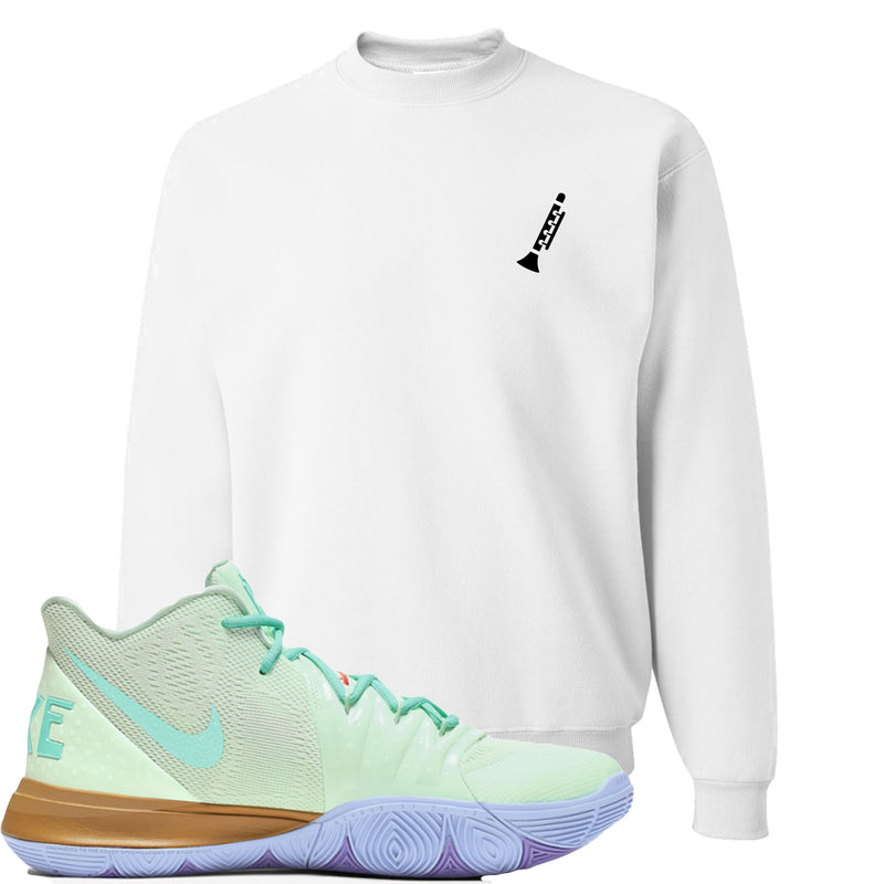 Nike Kyrie 5 Squidward Sneaker Hook Up Clarinet White Sweater