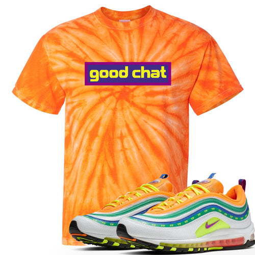 Air Max 97 Summer of Love Sneaker Match Good Chat Orange Tie Dye T-Shirt