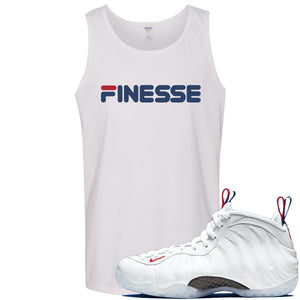 Nike WMNS Air Foamposite One USA Sneaker Hook Up Finesse White Mens Tank Top