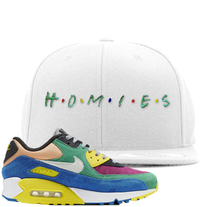 Nike Air Max 90 Viotech 2.0 Sneaker Hook Up Homies White Snapback