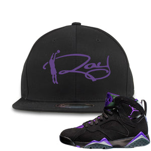 Air Jordan 7 Ray Allen Sneaker Hook Up Ray Signature Black Snapback