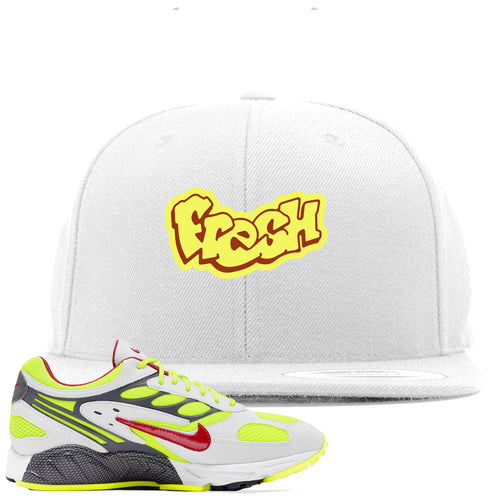 Nike Air Ghost Racer Neon Yellow Sneaker Match Fresh White Snapback