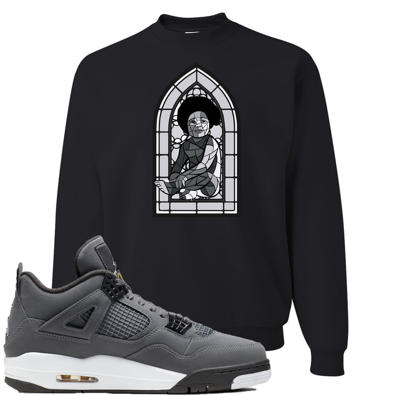 Air Jordan 4 Cool Grey 2019 Sneaker Hook Up Stained Glass Baby Black Sweater