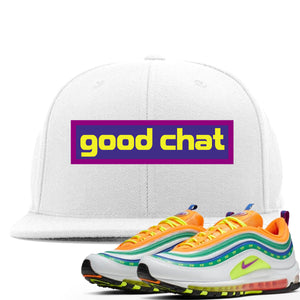 Air Max 97 Summer of Love Sneaker Hook Up Good Chat White Snapback