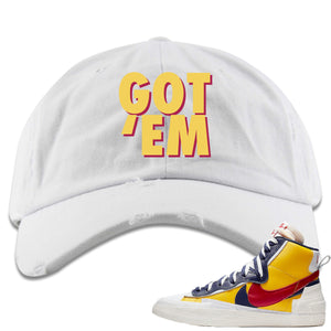 Air Max Sacai Blazer Mid Varsity Maize Sneaker Hook Up Got Em White Distressed Dad Hat