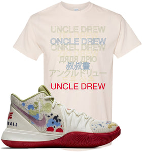 Bandulu x Nike Kyrie 5 Sneaker Hook Up Uncle Drew Multi Language Natural T-Shirt