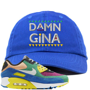 Nike Air Max 90 Viotech 2.0 Sneaker Hook Up Damn Gina Blue Dad Hat