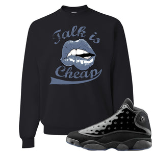 Air Jordan 13 Cap and Gown Sneaker Hook Up Talk is Cheap Black Sweater