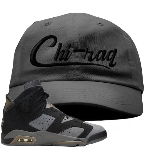 Air Jordan 6 PSG Sneaker Match Chi-Raq Dark Gray Dad Hat