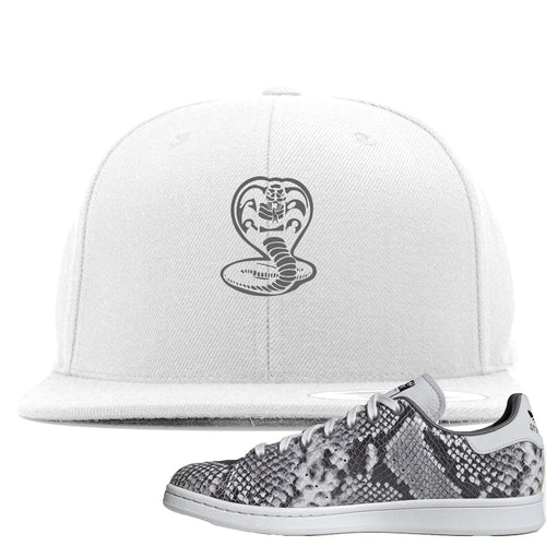 Adidas Stan Smith Grey Snakeskin Sneaker Match Cobra Snake White Snapback