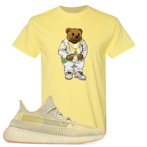 Adidas Yeezy Boost 350 V2 Antlia Sneaker Match Biggie Bear Cornsilk Yellow T-Shirt
