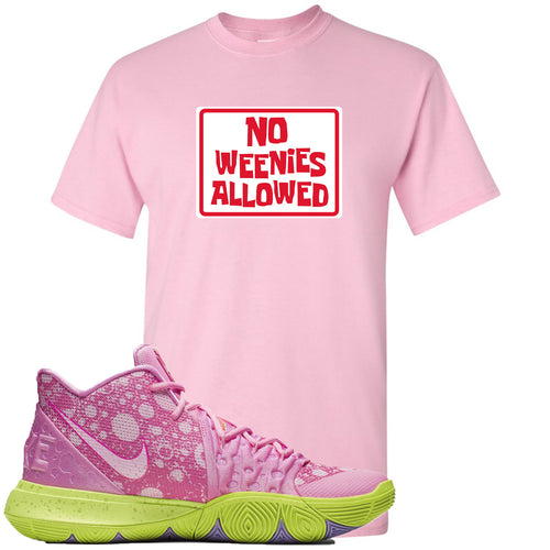 Spongebob Squarepants x Nike Kyrie 5 Patrick Star Sneaker Match No Weenies Allowed Light Pink T-Shirt