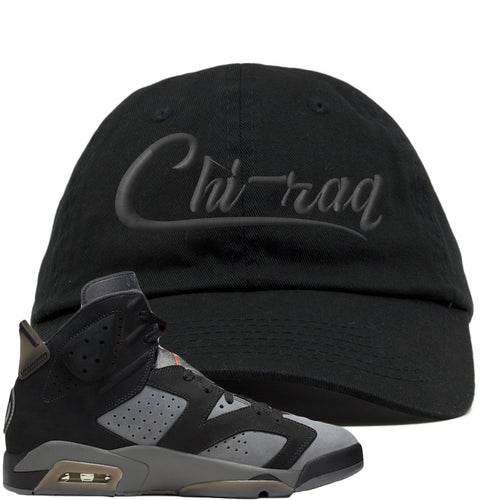Air Jordan 6 PSG Sneaker Match Chi-Raq Black Dad Hat