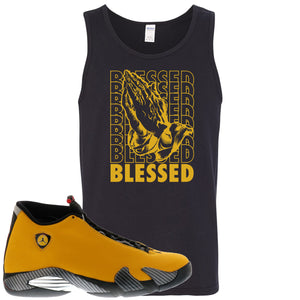 Reverse Ferrari 14s Sneaker Hook Up Blessed Black Mens Tank Top