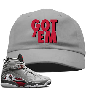 Air Jordan 8 Reflections of a Champion Sneaker Hook Up Got Em Gray Dad Hat