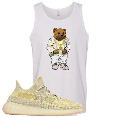 Adidas Yeezy Boost 350 V2 Antlia Sneaker Match Biggie Bear White Mens Tank Top