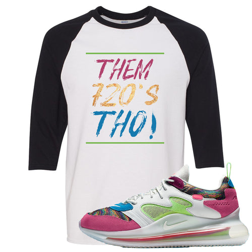 OBJ x Nike Air Max 720 Sneaker Match Them 720's Tho White and Black Raglan T-Shirt