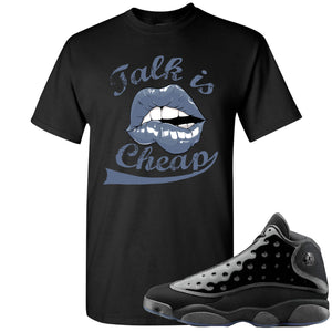 Air Jordan 13 Cap and Gown Sneaker Hook Up Talk is Cheap Black T-Shirt
