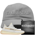 Adidas Yeezy Boost 350 v2 Lundmark Reflective Sneaker Hook Up Calabasas Light Gray Dad Hat