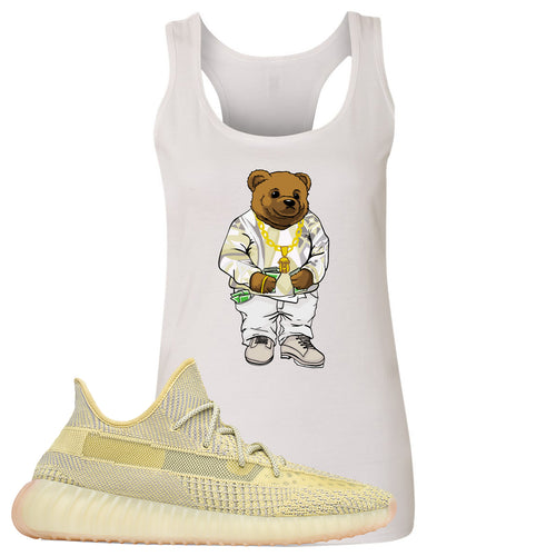 Adidas Yeezy Boost 350 V2 Antlia Sneaker Match Biggie Bear White Womens Tank Top