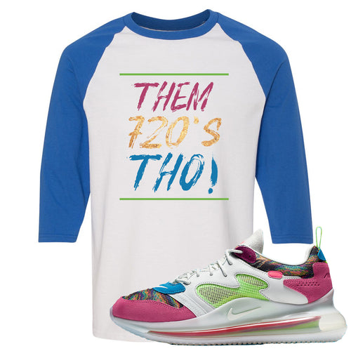 OBJ x Nike Air Max 720 Sneaker Match Them 720's Tho White and Blue Raglan T-Shirt