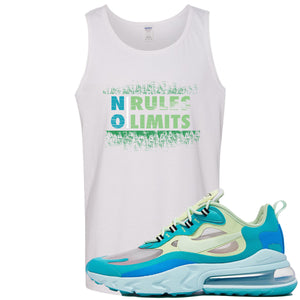 Nike Air Max 270 React Hyper Jade Sneaker Hook Up No Rules No Limit White Mens Tank Top