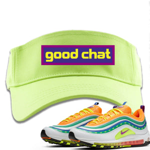 Air Max 97 Summer of Love Sneaker Hook Up Good Chat Safety Green Visor
