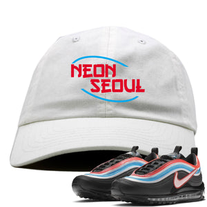 Air Max 97 Neon Seoul Sneaker Hook Up Neon Seoul in English White Dad Hat