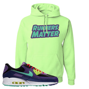 Air Max 90 Cheetah Hoodie | Runners Matter, Neon Green